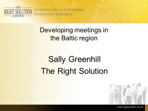 Developing Meetings in the Baltic Region